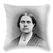 Susan B. Anthony, American Civil Rights Throw Pillow
