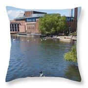 Swan Theatre  Throw Pillow