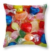 Sweet Candies Throw Pillow
