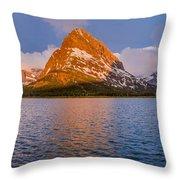 Swiftcurrent Lake Panorama Throw Pillow