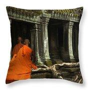 Ta Prohm Cambodia Throw Pillow
