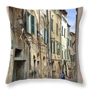 Taggia In Liguria Throw Pillow