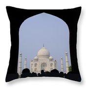 Taj Mahal, Agra India Throw Pillow
