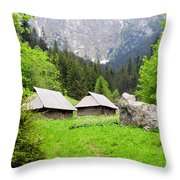 Tatra Mountains In Poland Throw Pillow