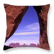 Teardrop Arch Monument Valley Throw Pillow