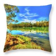 Telaga Warna Lake Throw Pillow