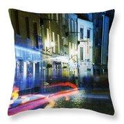 Temple Bar, Dublin, Co Dublin, Ireland Throw Pillow