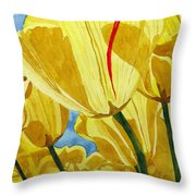 Tender Tulips Throw Pillow