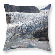 Terminal Moraine And Glacial Lake Throw Pillow