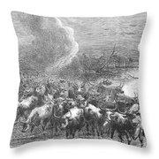 Texas: Cattle Drive, 1867 Throw Pillow