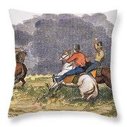 Texas Cowboys, C1850 Throw Pillow
