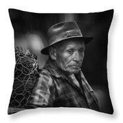Textile Merchant Throw Pillow