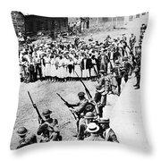 Textile Strike, 1934 Throw Pillow