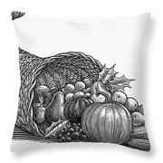 Thanksgiving: Cornucopia Throw Pillow
