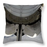 The Aft Portion Of The Space Shuttle Throw Pillow