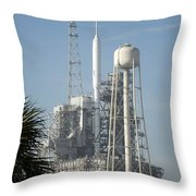 The Ares I-x Rocket Is Seen Throw Pillow