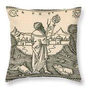 The Astrologer Albumasar Throw Pillow