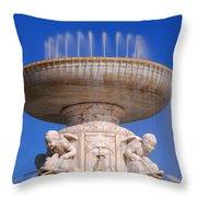 The Belle Isle Scott Fountain Throw Pillow