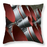 The Boosters Of The Soyuz Tma-14 Throw Pillow