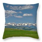 The Bridger Mountains Throw Pillow