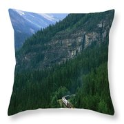 The Canada Pacific Train Travels Throw Pillow