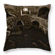 The Castle Of Tavastehus Bw Throw Pillow