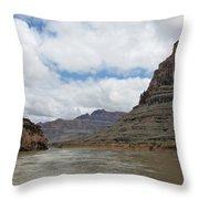 The Colorado River-a Grand Canyon Perspective II Throw Pillow