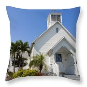 The Community Chapel Of Melbourne Beach Florida Throw Pillow
