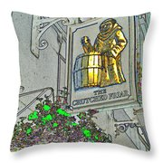 The Crutched Friar Public House Throw Pillow