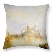 The Dogana And Santa Maria Della Salute Venice Throw Pillow