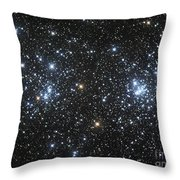The Double Cluster, Ngc 884 And Ngc 869 Throw Pillow