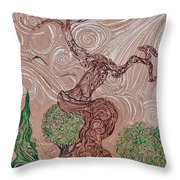 The Earthen Tree Throw Pillow
