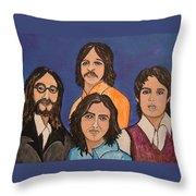 The Fab Four Beatles  Throw Pillow