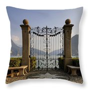 The Gateway To Lago Di Lugano Throw Pillow