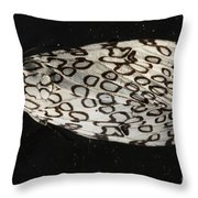 The Giant Leopard Moth Throw Pillow