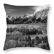 The Grand Tetons And The Snake River Throw Pillow