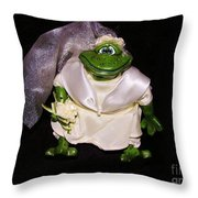 The Green Bride Throw Pillow