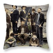 The Hatfields, 1899 Throw Pillow