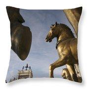 The Horses On The Basilica San Marcos Throw Pillow