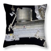 The Japanese Experiment Module Kibo Throw Pillow