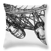 The London Eye Throw Pillow