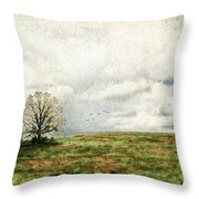 The Lone Tree Throw Pillow