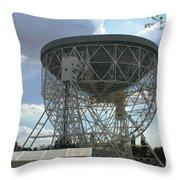 The Lovell Telescope At Jodrell Bank Throw Pillow