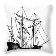 The Mayflower Throw Pillow