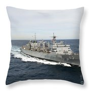 The Military Sealift Command Fast Throw Pillow