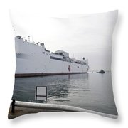 The Military Sealift Command Hospital Throw Pillow
