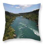 The Niagara River Throw Pillow