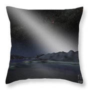 The Night Sky From A Hypothetical Alien Throw Pillow