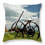 The Old Sythe Throw Pillow