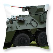 The Pandur 6x6 Family Of Wheeled Throw Pillow
